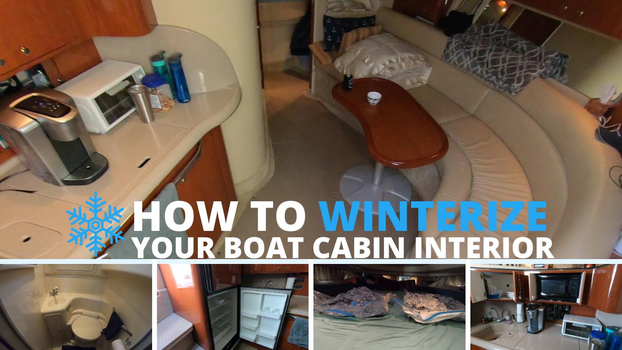 winterize boat cabin interior