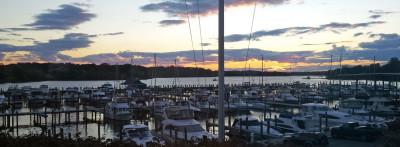 boat life sunset