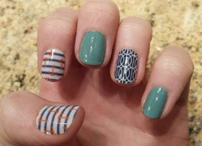 nautical nail designs using jamberry wraps and sally