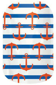 nautical wrap with anchors