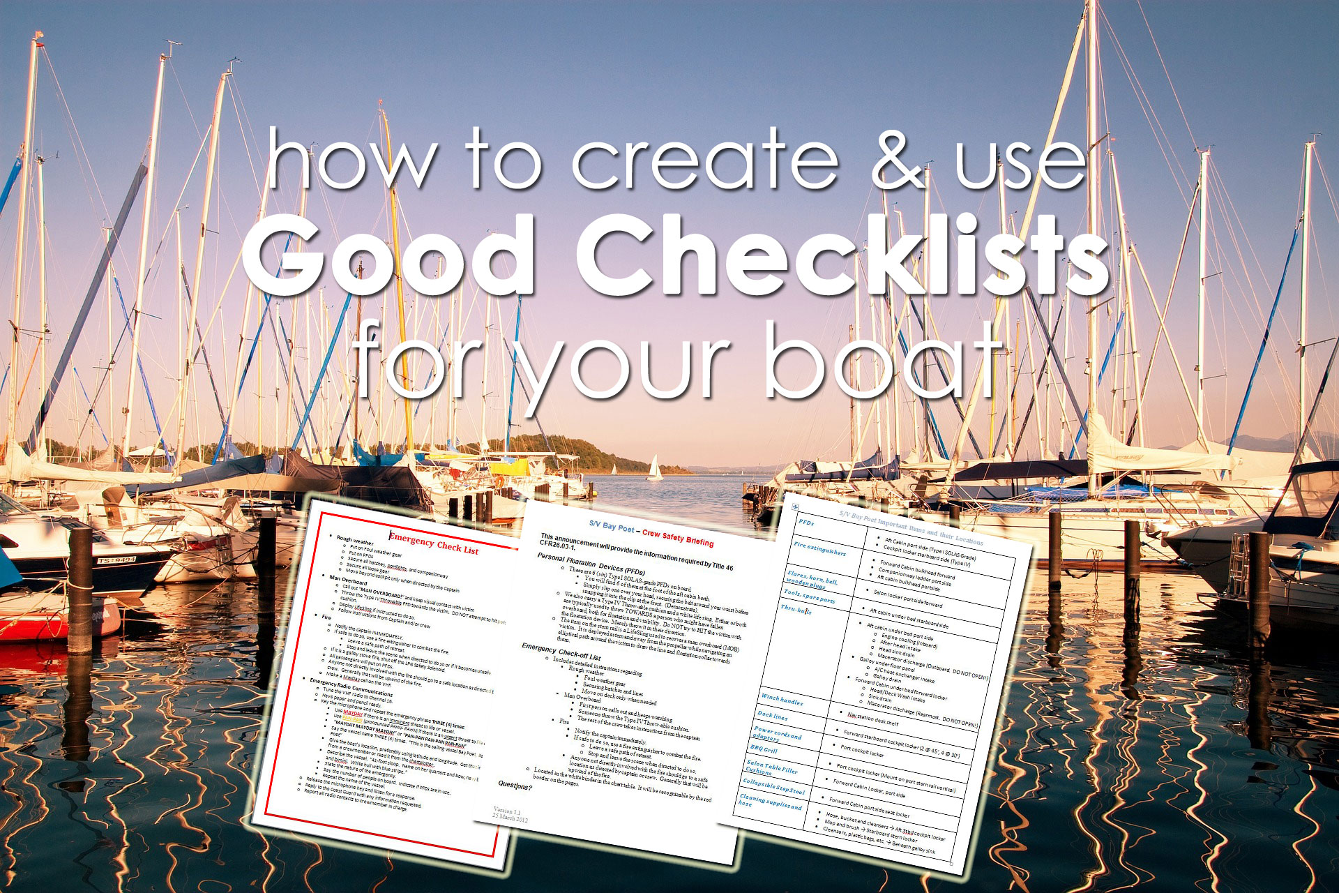 creating boating checklists