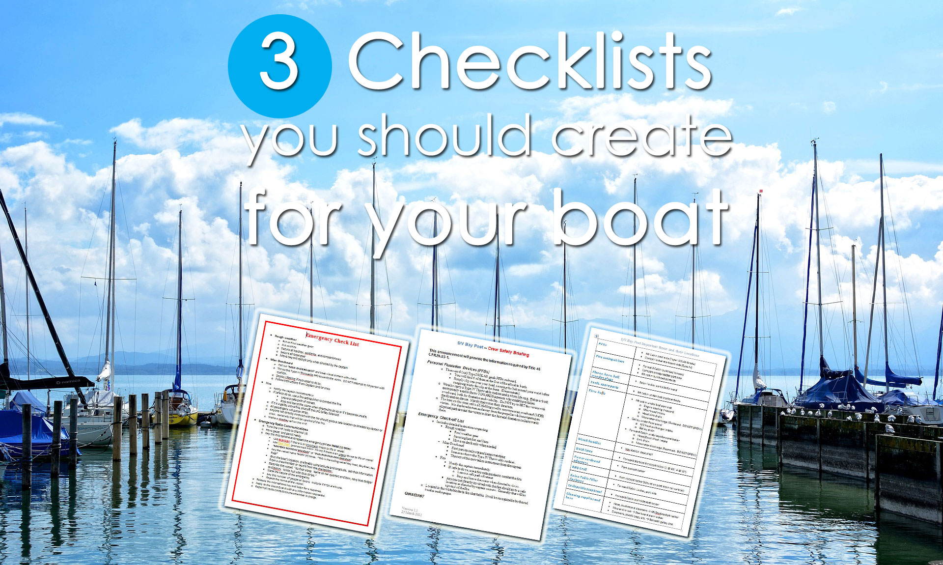 checklists boat