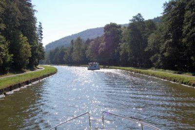 canal glistening sun