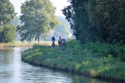 canal path bikers