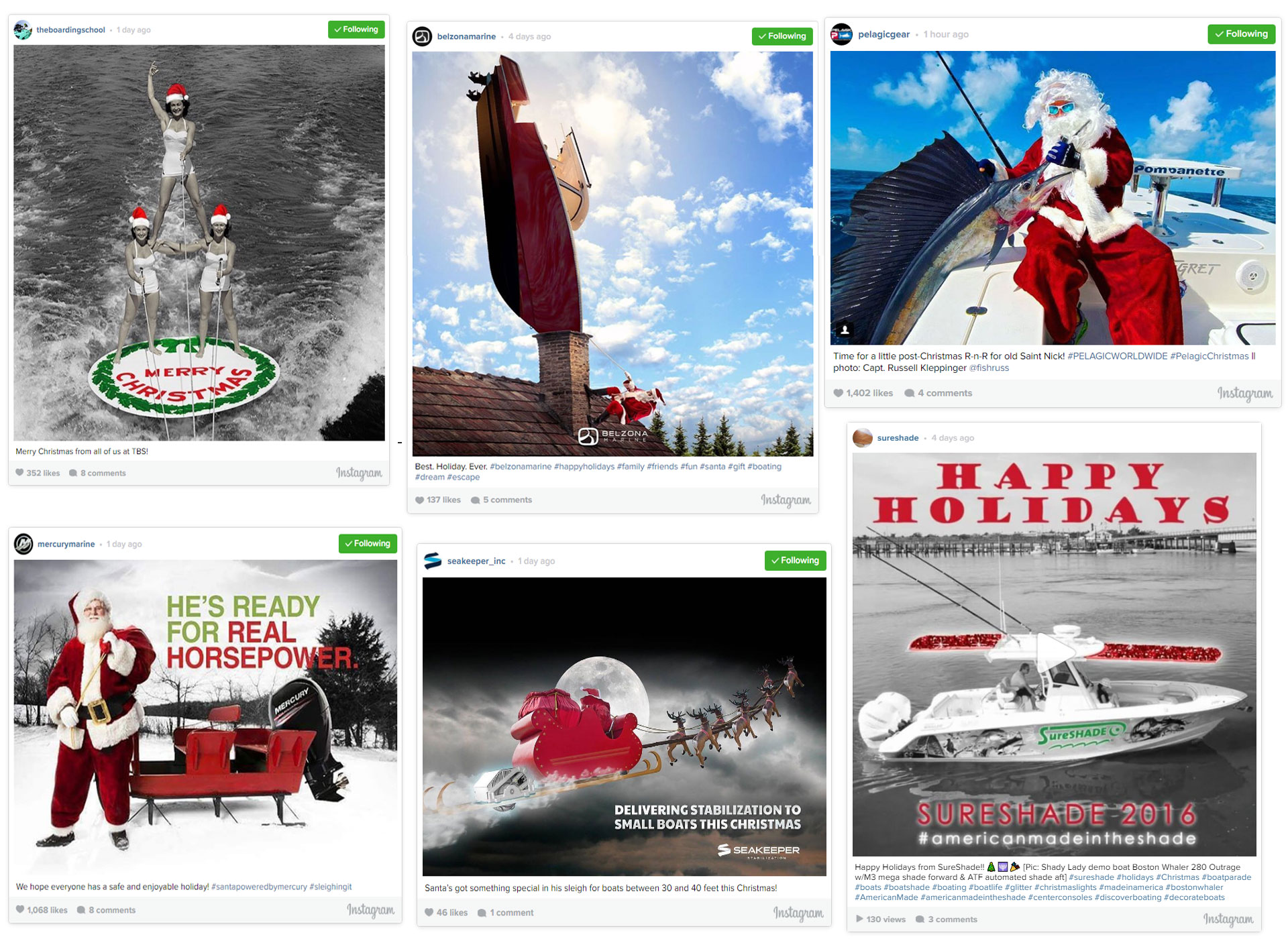 holiday boating posts instagram