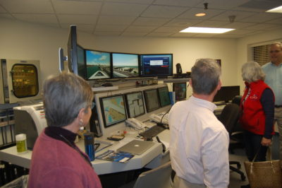 Simulator control room