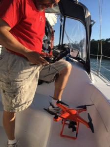 Drone boat launch prep