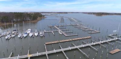 drone boating marina photo
