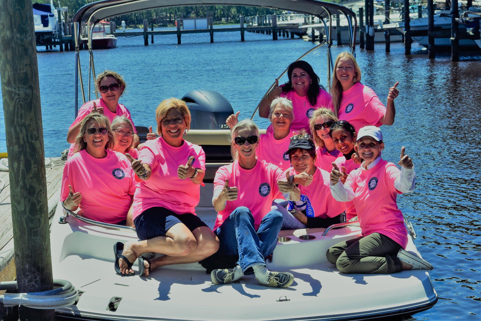 women in boating