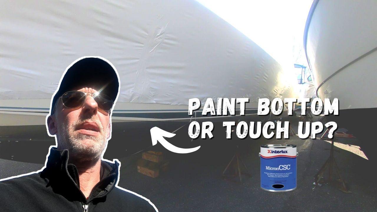 boat prep bottom paint