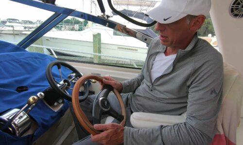 Stuck Boat Steering Wheel – Removal & Replacement with New Wheel