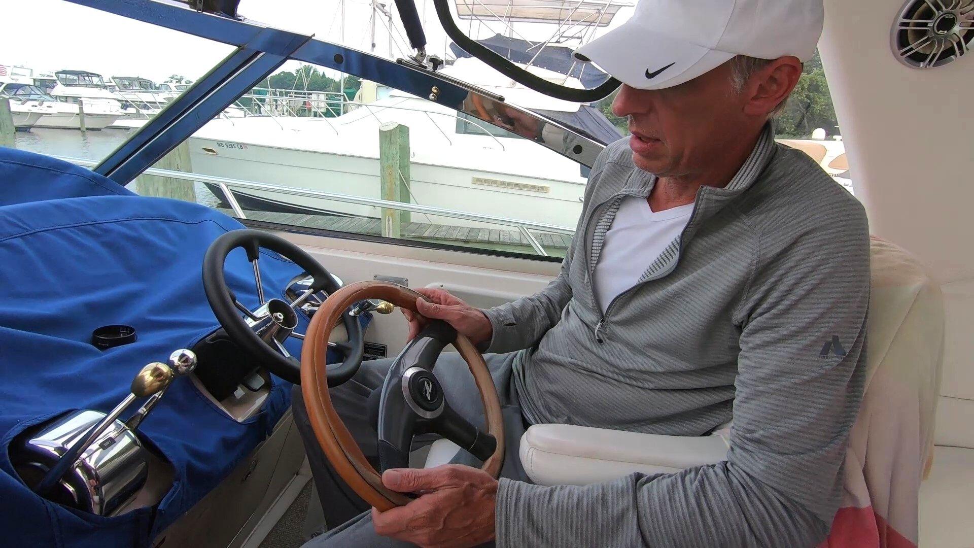 new boat steering wheel