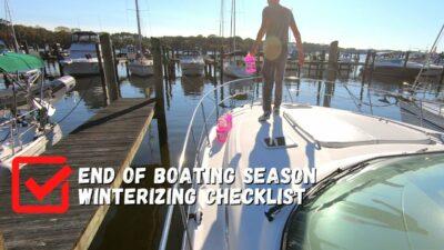 winterizing boat checklist